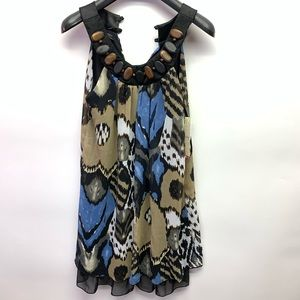 Kitty yet Classy Top or Dress Black Blue Brown